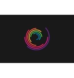 Spiral design logo round logo design creative vector