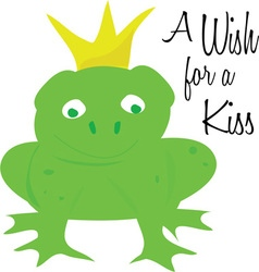 Wish for kiss vector