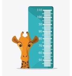 Giraffe icon animal design safari concept vector