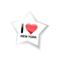 I love new york sign vector