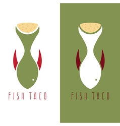 Taco fish mexican food design template vector
