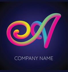 a letter logo icon blending color vector image vector image