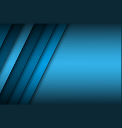 abstract background with blue layers above each vector image vector image