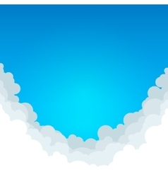 Abstract Blue Background with Clouds vector image