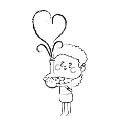 baby cupid icon vector image vector image