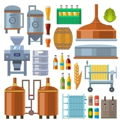 Beer factory production vector image vector image