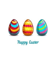 Card with cartoon Easter eggs vector image vector image