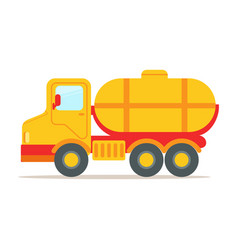 Cargo truck with tank for transporting liquids vector