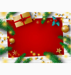 christmas decoration design vector image vector image