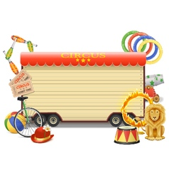 Circus billboard vector