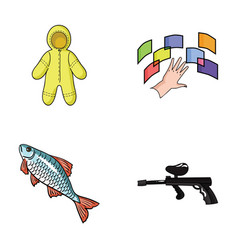 Clothing fishing and other web icon in cartoon vector