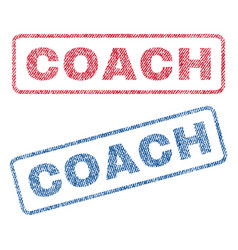 Coach textile stamps vector