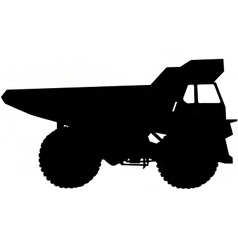 dumper truck silhouette vector image vector image
