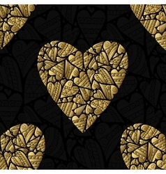 Elegant black golden seamless pattern vector