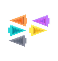 Five colorful arrows on white vector