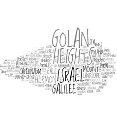 Golan word cloud concept vector