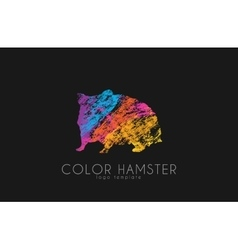 Hamster color hamster logo creative logo design vector