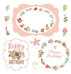 holiday collection cute frames vector image vector image