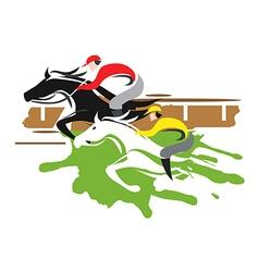 Horse racers vector