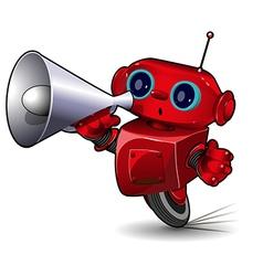Robot with megaphone vector