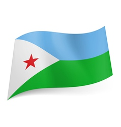 State flag of Djibouti vector image vector image