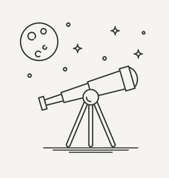 thin line design of telescope vector image vector image
