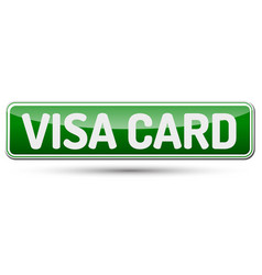 visa card - abstract beautiful button with text vector image