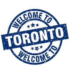 Welcome to toronto blue stamp vector