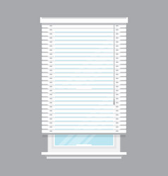 white window blinds isolated vector image vector image