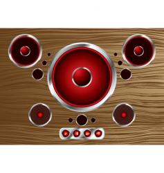 wood speaker vector image vector image