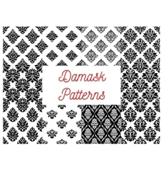Damask ornate seamless patterns set vector