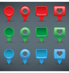 Colorful web buttons checkboxes pointers vector