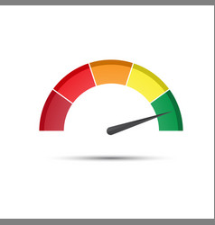 Color tachometer with a pointer in the green part vector