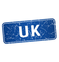 Uk blue stamp isolated on white background vector