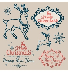Calligraphic symbols and elements and christmas vector