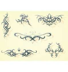 tattoo design elemets vector image