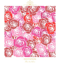 Rose wedding background vector