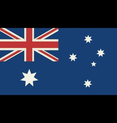 Grunge flag of australia vector