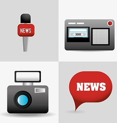 Journalism design vector