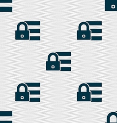 Lock login icon sign seamless abstract background vector