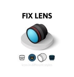 Fix lens icon in different style vector