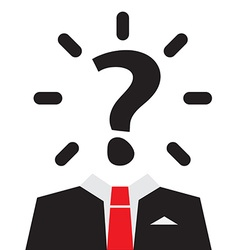 Unknown man with question mark instead of head vector