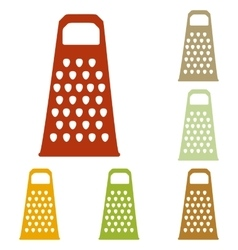 Cheese grater sign vector