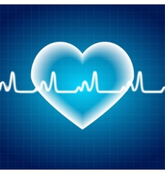 Abstract Heart Pulse Medical Background vector image vector image
