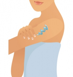applying lotion vector image vector image