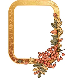 autumn golden frame vector image