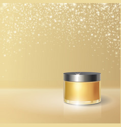 beauty cosmetic product poster cream container vector image