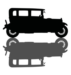 Black vintage car vector