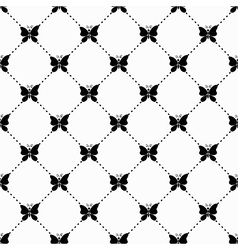 Butterfly monochrome pattern vector image
