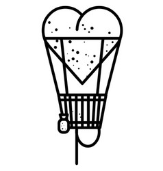 Cartoon image of heart balloon vector